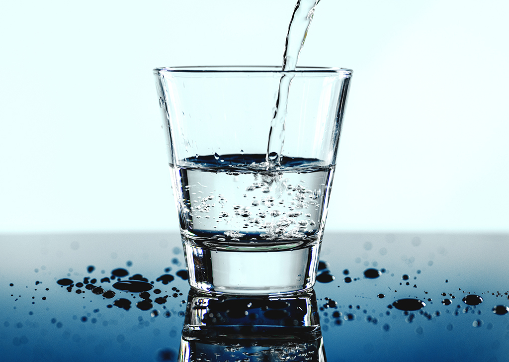 glass of safe drinking water