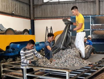 plastic recycling facility